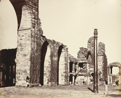 The Kootub [Delhi]. North-west corner of the inner enclosure.